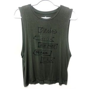 American Eagle | Olive Army Green Soft & Sexy Tank